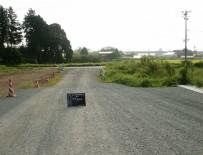 道明地区地区界道路整備工事 着手前