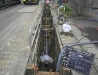 好摩処理分区第一工区 汚水管布設施工状況その1