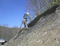 市道一の渡岩洞湖線 道路改良工事(法面) 施工状況