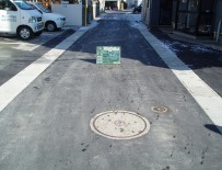 城西排水区第三分区間梁設置及び面整備工事 完成